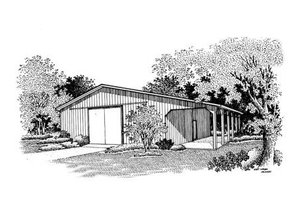 Traditional Exterior - Front Elevation Plan #45-260