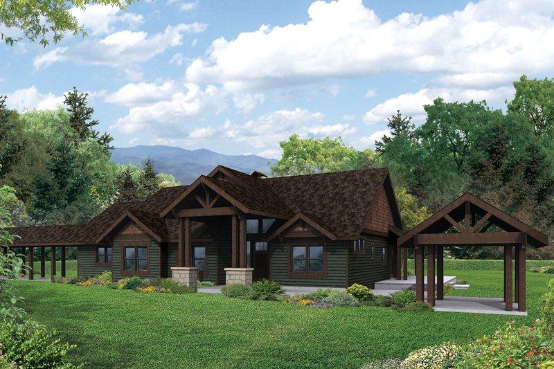 Dream House Plan - Craftsman Exterior - Front Elevation Plan #124-982