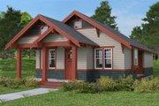 Craftsman Style House Plan - 1 Beds 1 Baths 788 Sq/Ft Plan #895-53