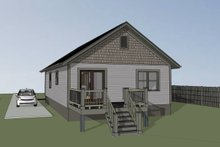 Home Plan - Cottage Exterior - Rear Elevation Plan #79-130