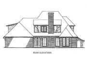 Tudor Style House Plan - 4 Beds 3.5 Baths 2953 Sq/Ft Plan #310-653 Exterior - Rear Elevation