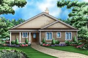 Traditional Style House Plan - 3 Beds 3.5 Baths 3091 Sq/Ft Plan #27-482 Exterior - Front Elevation
