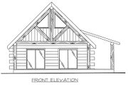 Log Style House Plan - 1 Beds 1 Baths 689 Sq/Ft Plan #117-505 Exterior - Other Elevation