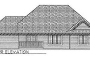 Traditional Style House Plan - 3 Beds 2 Baths 1835 Sq/Ft Plan #70-216 Exterior - Rear Elevation