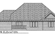 Dream House Plan - Traditional Exterior - Rear Elevation Plan #70-216