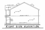 Traditional Style House Plan - 3 Beds 2.5 Baths 1536 Sq/Ft Plan #20-2407 Exterior - Other Elevation