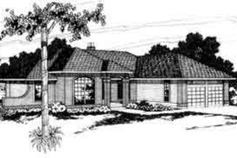 Ranch Exterior - Front Elevation Plan #124-136