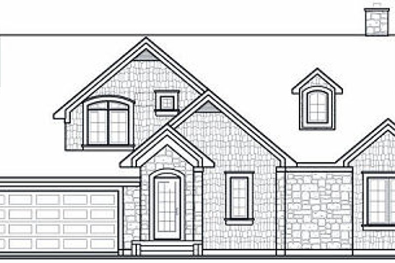 Traditional Exterior - Rear Elevation Plan #23-727 - Houseplans.com