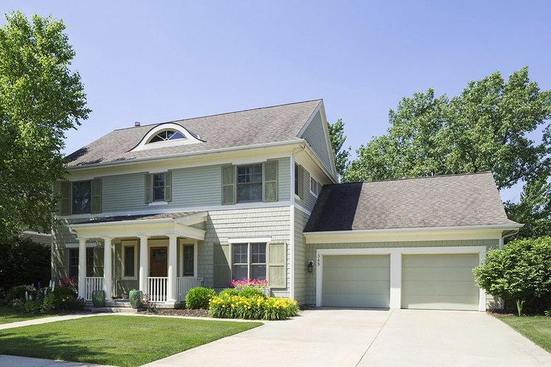 Home Plan - Colonial Exterior - Front Elevation Plan #901-22