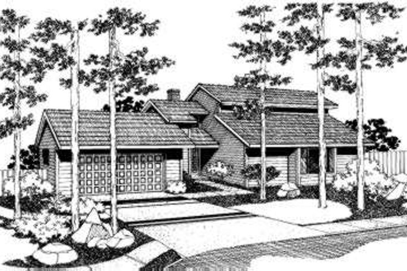 Traditional Style House Plan - 3 Beds 2.5 Baths 2202 Sq/Ft Plan #303-114 Exterior - Front Elevation