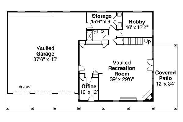 Country Floor Plan - Main Floor Plan Plan #124-991