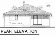 Traditional Style House Plan - 2 Beds 2 Baths 1390 Sq/Ft Plan #18-9057 Exterior - Rear Elevation