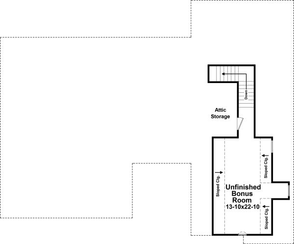 Traditional Floor Plan - Upper Floor Plan Plan #21-347
