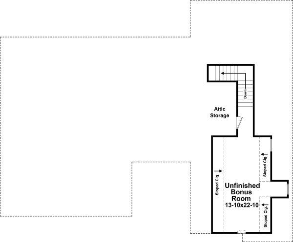 Architectural House Design - Traditional Floor Plan - Upper Floor Plan #21-347