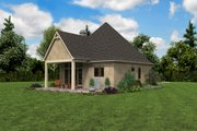 European Style House Plan - 1 Beds 1 Baths 960 Sq/Ft Plan #48-1012 Exterior - Other Elevation