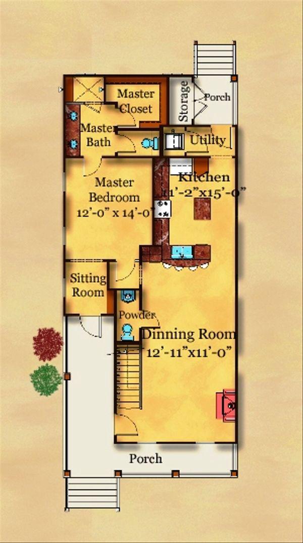 Cottage Floor Plan - Main Floor Plan Plan #442-3