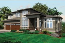 Contemporary House Plan front elevation