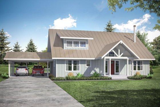 Cottage Exterior - Front Elevation Plan #124-1157