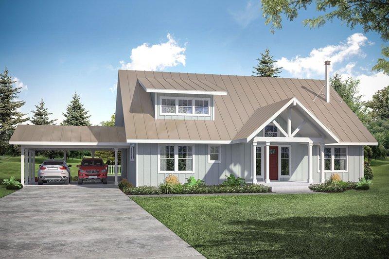 Dream House Plan - Cottage Exterior - Front Elevation Plan #124-1157