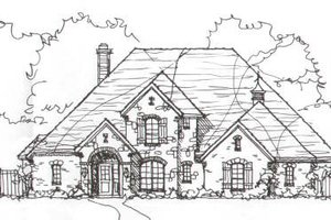 European Exterior - Front Elevation Plan #141-225