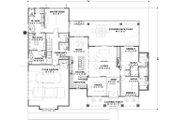 Farmhouse Style House Plan - 3 Beds 2.5 Baths 2479 Sq/Ft Plan #1069-17 Floor Plan - Main Floor Plan