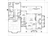 Farmhouse Style House Plan - 3 Beds 2.5 Baths 2479 Sq/Ft Plan #1069-17 Floor Plan - Main Floor Plan