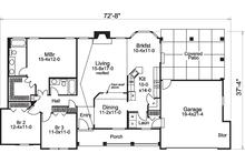 Traditional Floor Plan - Main Floor Plan Plan #57-584