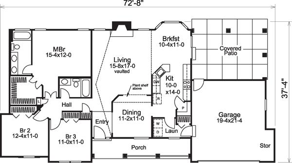 Dream House Plan - Traditional Floor Plan - Main Floor Plan #57-584