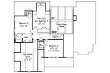 Traditional Floor Plan - Upper Floor Plan Plan #927-26