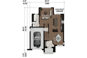 Contemporary Style House Plan - 4 Beds 1 Baths 1863 Sq/Ft Plan #25-4607 Floor Plan - Main Floor Plan