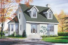 House Plan Design - Traditional Exterior - Front Elevation Plan #23-220