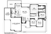 Ranch Style House Plan - 4 Beds 2 Baths 2357 Sq/Ft Plan #70-1275 Floor Plan - Main Floor Plan