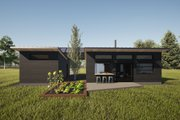 Modern Style House Plan - 1 Beds 1 Baths 550 Sq/Ft Plan #933-12 Exterior - Rear Elevation