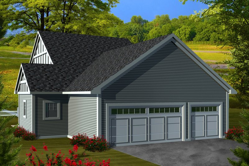 Ranch Exterior - Rear Elevation Plan #70-1113 - Houseplans.com
