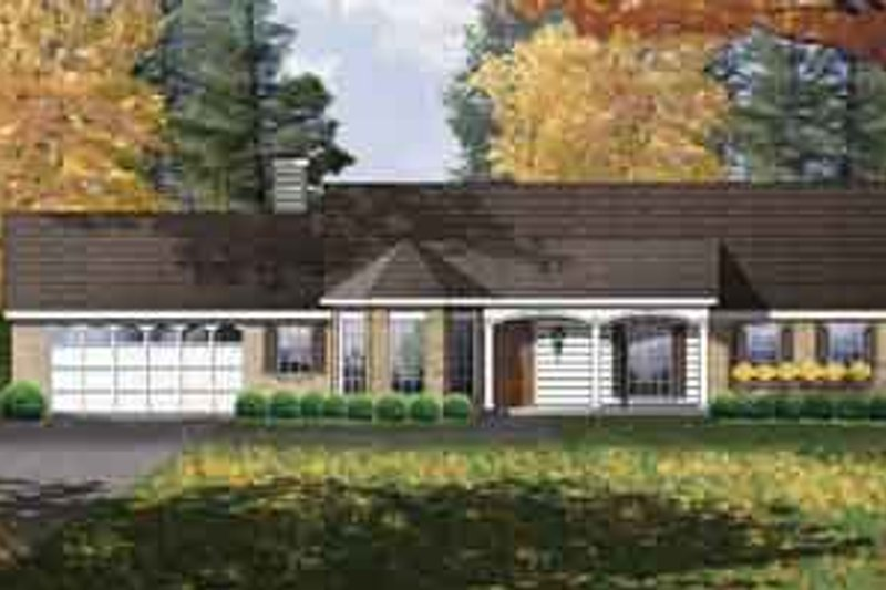 Traditional Exterior - Front Elevation Plan #40-332 - Houseplans.com