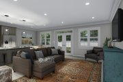 Ranch Style House Plan - 3 Beds 2 Baths 2056 Sq/Ft Plan #1060-101 Interior - Family Room