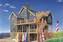 Beach Exterior - Front Elevation Plan #23-507