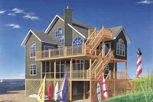 House Plan Design - Beach Exterior - Front Elevation Plan #23-507