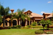 Mediterranean Style House Plan - 4 Beds 6.5 Baths 5962 Sq/Ft Plan #135-187 Exterior - Front Elevation