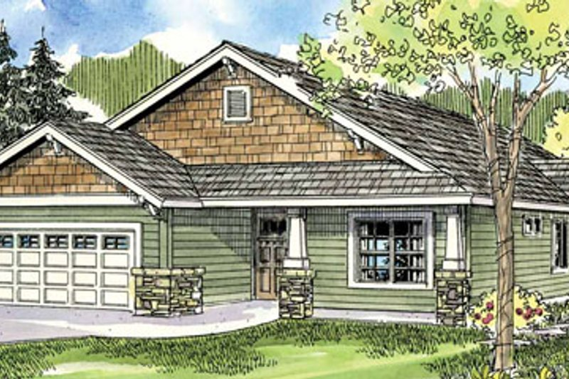 Traditional Exterior - Front Elevation Plan #124-762 - Houseplans.com