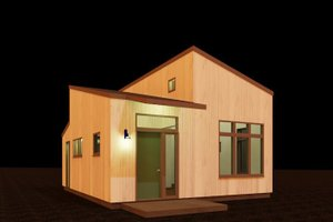 Contemporary Exterior - Front Elevation Plan #917-40