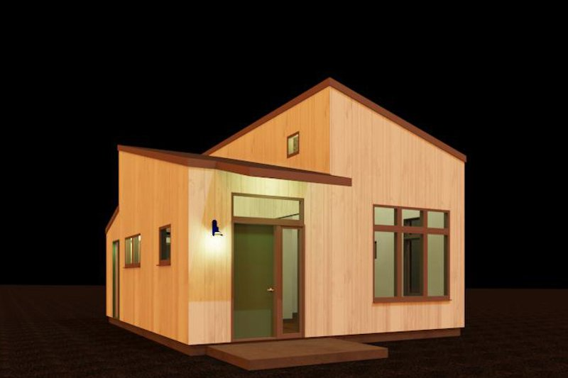 Contemporary Style House Plan - 1 Beds 1 Baths 484 Sq/Ft Plan #917-40 Exterior - Front Elevation