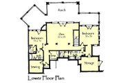Craftsman Style House Plan - 3 Beds 3.5 Baths 3236 Sq/Ft Plan #921-17 Floor Plan - Lower Floor Plan