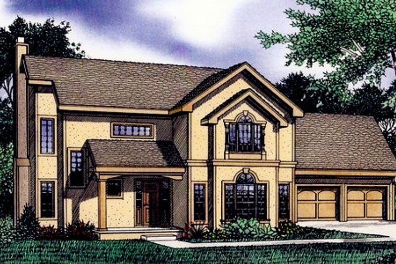 Traditional Exterior - Front Elevation Plan #405-193 - Houseplans.com