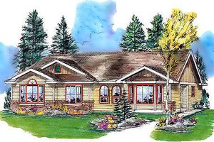 Home Plan Design - Traditional Exterior - Front Elevation Plan #18-1031