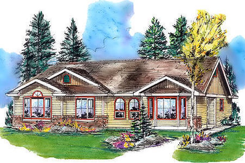 House Blueprint - Traditional Exterior - Front Elevation Plan #18-1031