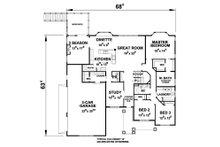 Ranch Floor Plan - Main Floor Plan Plan #20-2288