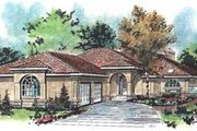 Mediterranean Style House Plan - 2 Beds 2.5 Baths 2056 Sq/Ft Plan #18-9133 Exterior - Front Elevation