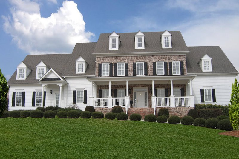 Farmhouse Style House Plan - 5 Beds 4 Baths 5450 Sq/Ft Plan #54-380 Exterior - Front Elevation