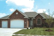 European Style House Plan - 2 Beds 2 Baths 1692 Sq/Ft Plan #20-1422 Exterior - Other Elevation